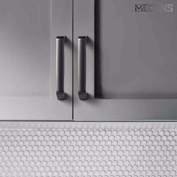 MECANS Nordic Carpathian Gray Cabinet Knobs Glam Drawer Handles Cupboard Door Handle Cabinet Handles for Furniture Hardware image