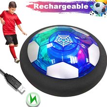 Air Power Hover Soccer Kids Toys Rechargeable Air Soccer Indoor Floating Soccer with LED Light Christmas Gift for Boys Girl toys