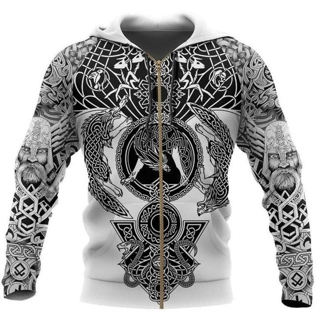 Beautiful Viking Tattoo 3D Printed Hoodie 3