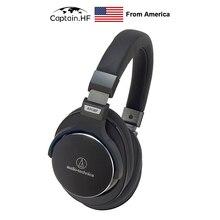 US Captain ATH-MSR7 Over-Ear High-Resolution Headphones  Professional Monitor Headphones HiFi Foldable Earphones