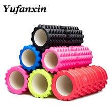Yufanxin köpük rulo masaj sütun ekipmanları Fitness Pilates spor salonu kas geri Yoga bloğu sopa vücut Relax 33*14 toptan