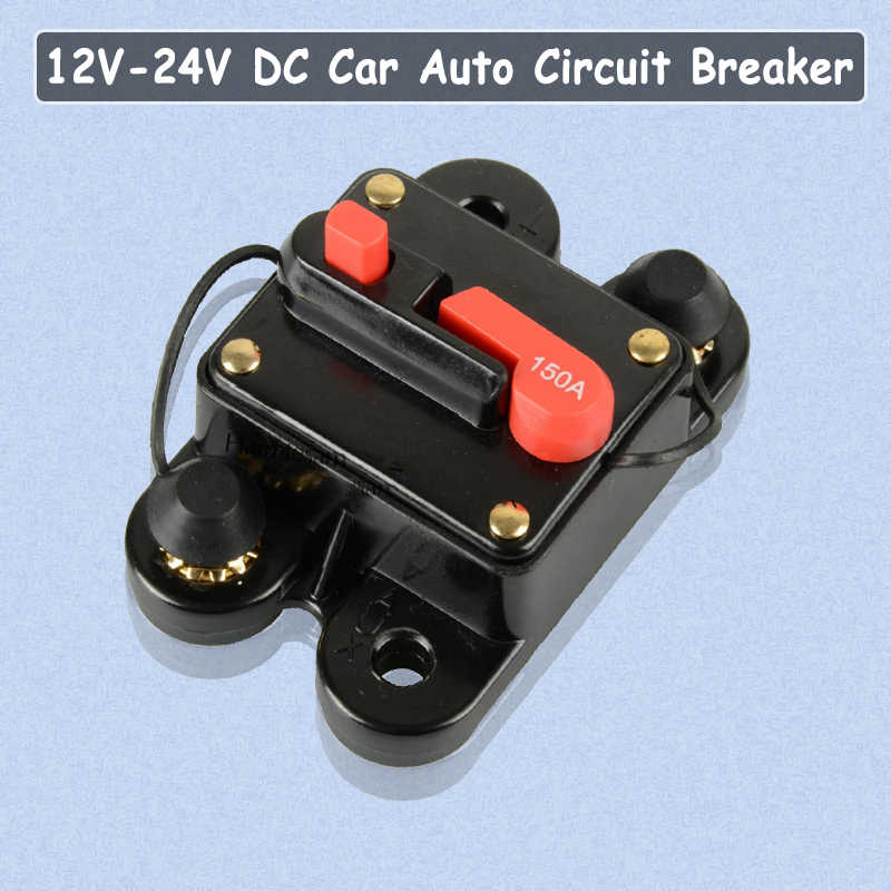 12V Car Automatic Circuit Breaker 80A-300A Switch Safety Fuse Seat Holder Tools