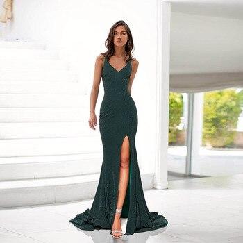 Womens Green Prom Dress