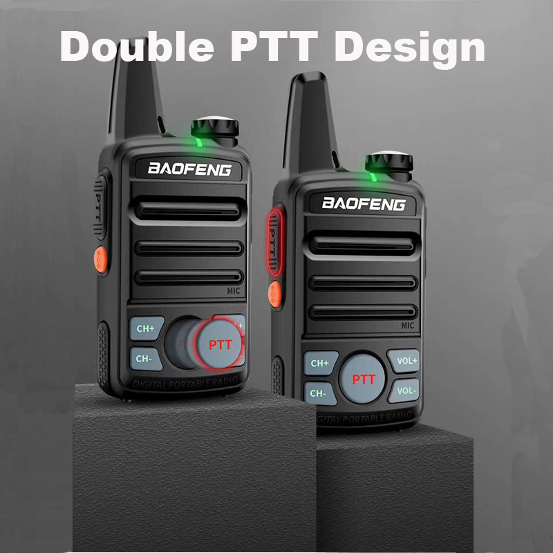 2PCS BAOFENG MINI WALKIE TALKIE UHF 400-470MHz Dual PTT Compact Small Portable Two Way Radio BF-T99 MINI With Earpiece