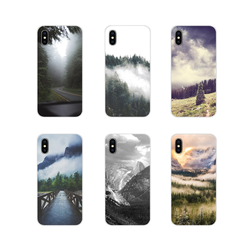 For Samsung Galaxy A3 A5 A7 A9 A8 Star A6 Plus 2018 2015 2016 2017 Mountain Forest Clouds Accessories Phone Cases Covers