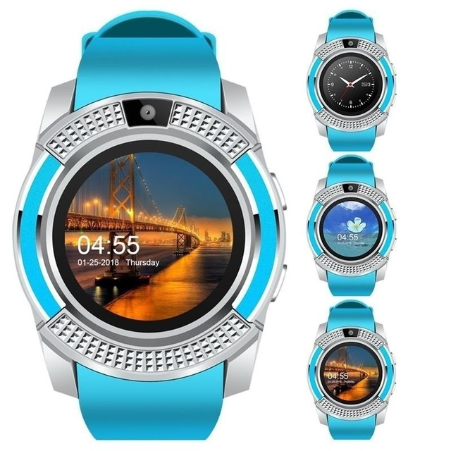 Smart Watch Men Bluetooth Sport Watches Women Smartwatch Touch Screen Wrist Watch with Camera/SIM Card Slot For Android Phone