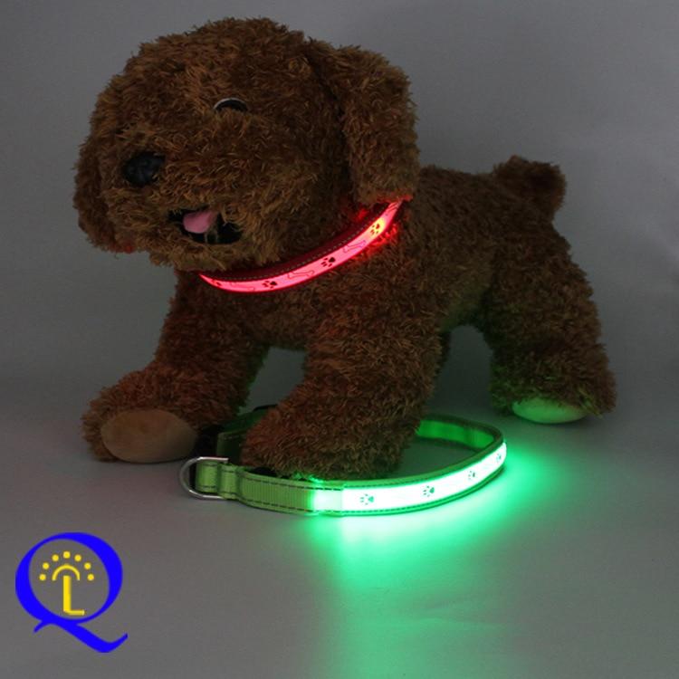 USB Charging Luminous Collar Gu Tou Xing Charging Neck Ring PET Fiber Glitter Dog Neck Ring Turn-on