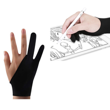 Anti-fouling Two-Fingers Artist Anti-Touch Glove For Drawing Tablet Right And Left Hand Glove Anti-Fouling For Ipad Screen Board