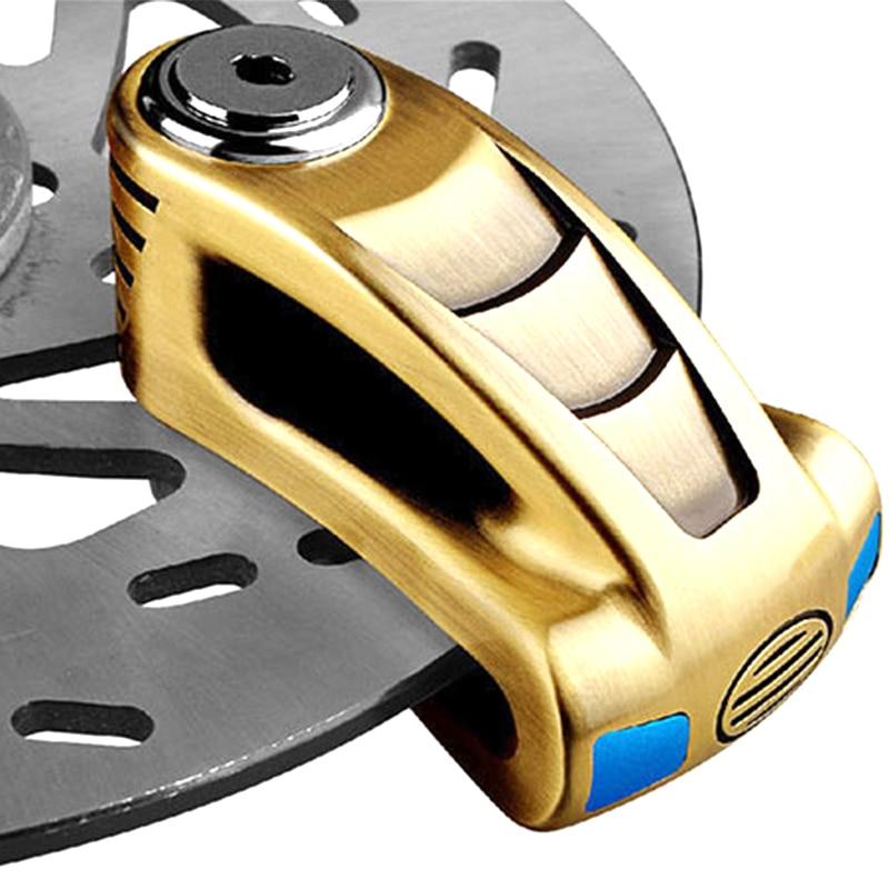 Motorcycle Scooter Anti-theft Brake Disc Lock Wheel Alarm Security Loud Padlock