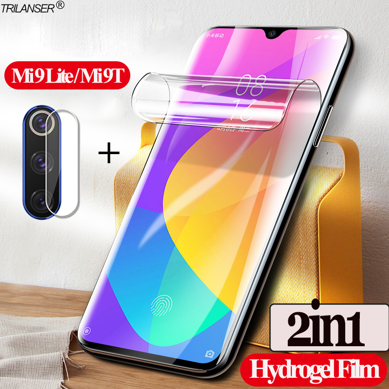 2in1 <font><b>mi</b></font> 9 lite <font><b>camera</b></font> protect glass for <font><b>xiaomi</b></font> <font><b>mi</b></font> <font><b>9t</b></font> Hydrogel Film soft glass mi9t pro mi9lite mi9 lite <font><b>mi</b></font> 9 t screen <font><b>protector</b></font> image