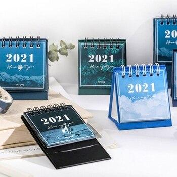 2021 Star Series Mini desktop paper landscape calendar two day plan desk planner annual Organizer 1