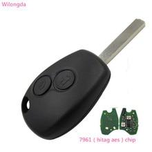 Wilongda自動キー2ボタンリモートキー434mhz pcf7961 7961 hitag aesチップ車のアクセサリー車のキーのため送料無料