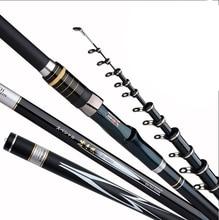 3.6M 4.5M 5.4M 6.3M High Carbon Fiber Rocky Telescopic Fishing Rod Spinning Rods Fishing Pole Feeder Carp Rods B324 free shipping 3 6m cw 90g 120g 150g 180g 230g extra heavy fishing feeder rods high carbon fiber feeder rod