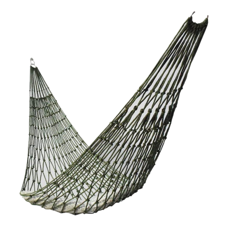 NEW-Portable Outdoor Sport Hammock, Outdoor Camping Hammock Mesh Net for Garden Beach Yard Travel Garden Swing Hanging Bed