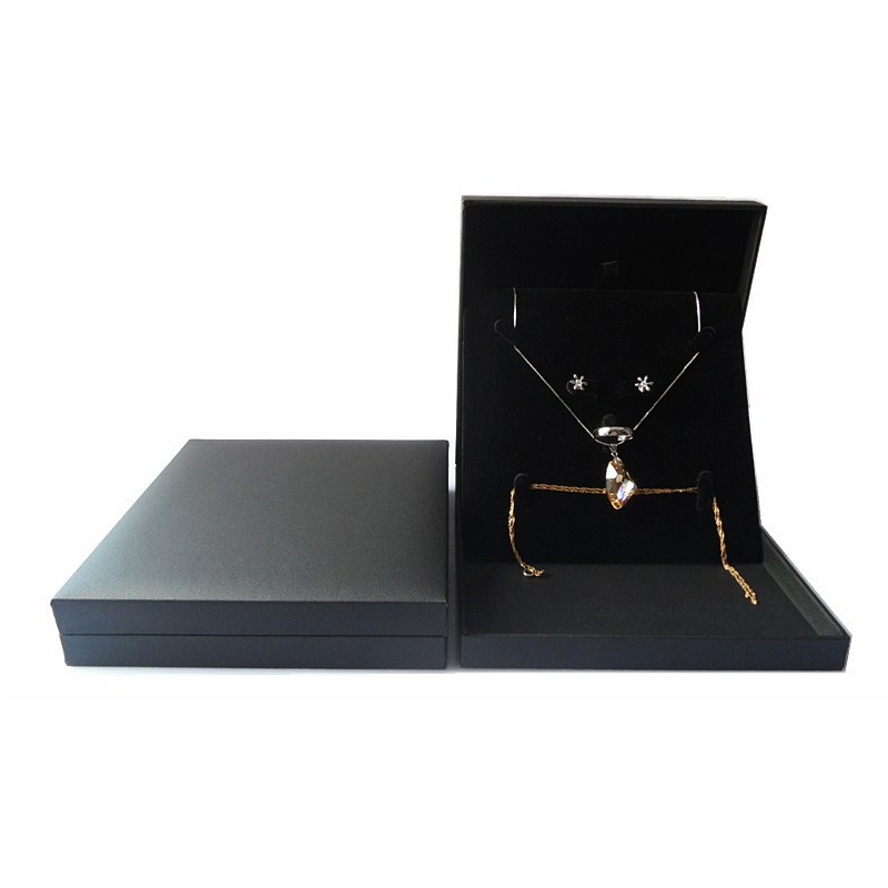 Jewelry Set Box Travel Pearl Necklace Gift Display Tray Boxes Wedding Earring Ring Packaging Jewellery Storage Organizer Case