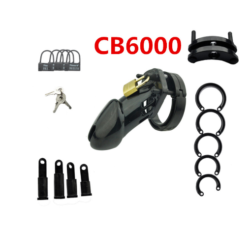 Image 2 - CB6000S/CB 6000 Rooster Cage Male Chastity Device with 5 Size Ring Penis Lock Male Chastity Belt Adult Game Sex Toys    -