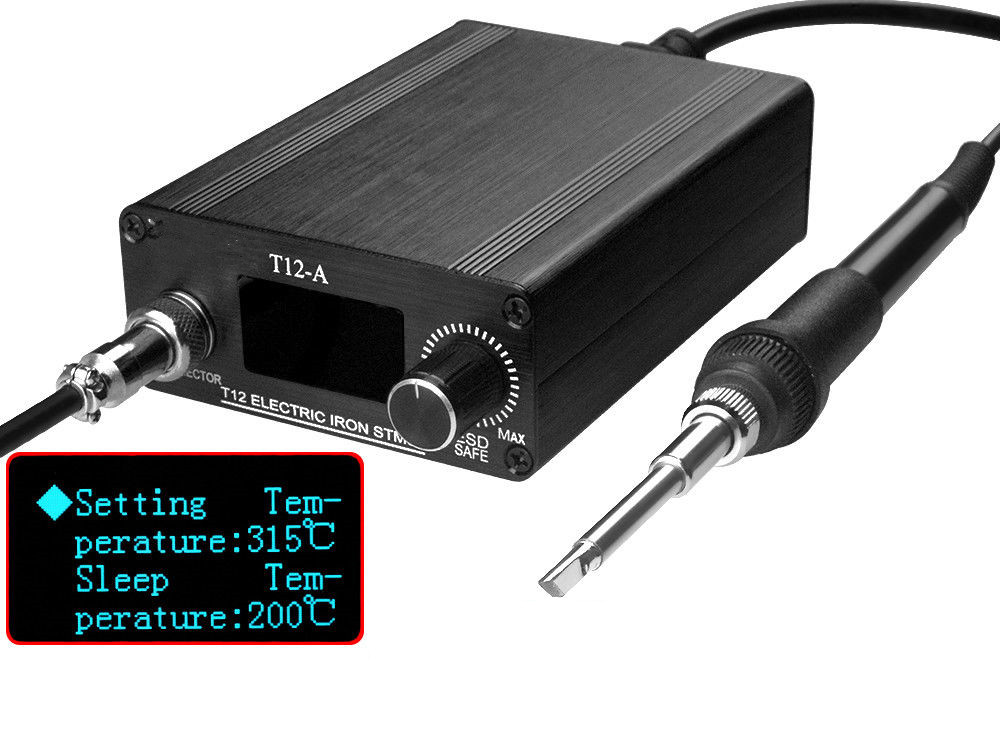 New 110V 220V OLED Digital Soldering Iron Station & T12 Tip Handle Controller