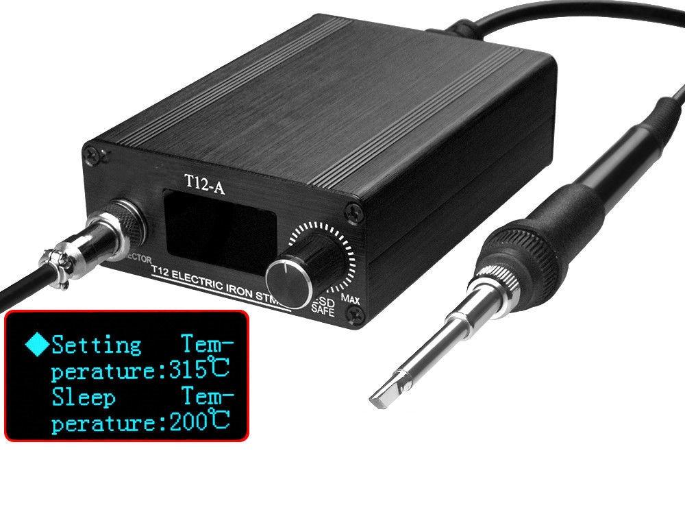 New 110V 220V OLED Digital Soldering Iron Station & T12 Tip Handle Controller