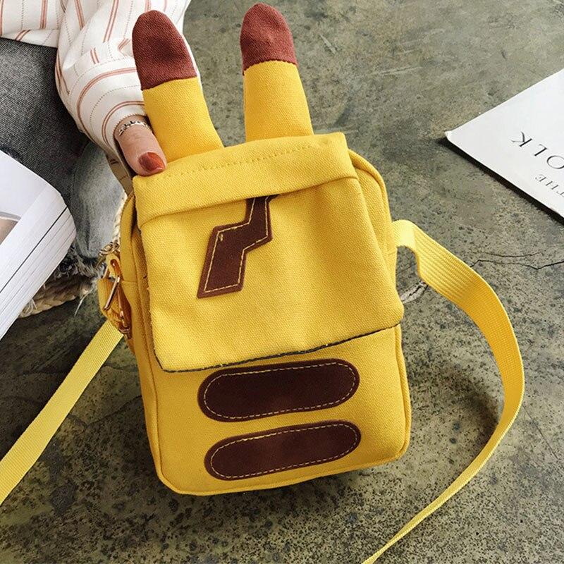 Pokemon Bag Pikachu Handbag Girl College Bag Animal Shoulder Bag Pokemon Go Bag