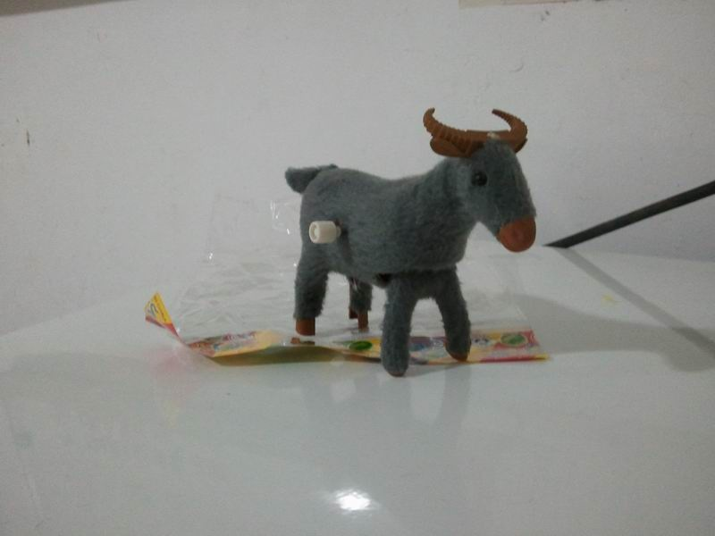 Children Shang Lian Niu Toy Creative Educational Winding Spring Cattle Plush Cow Chain Small Gifts Stall Supply Of Goods