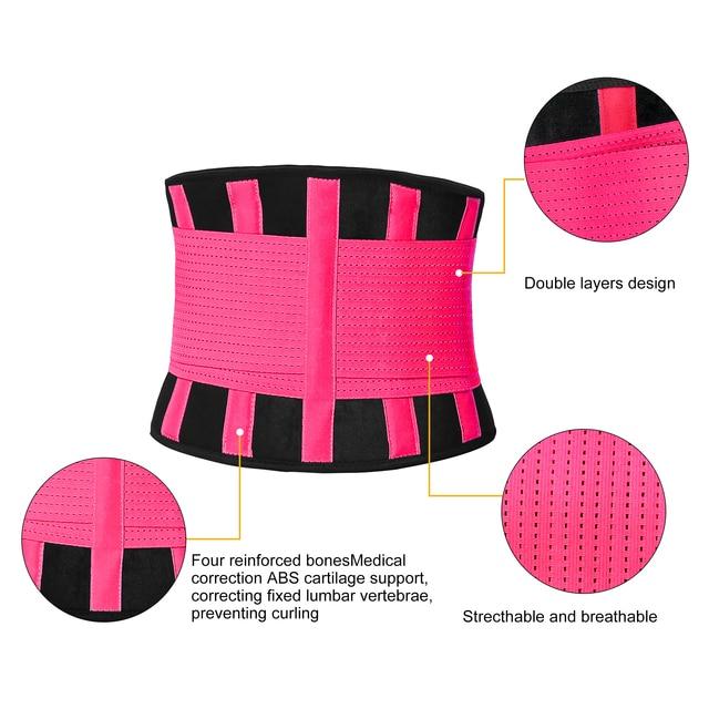 AUPCON Waist Trimmer Belt for Men & Women Sport Shapewear, Exercise Waist Trainer Weight Loss Burning Fat Body Building Shaper 3