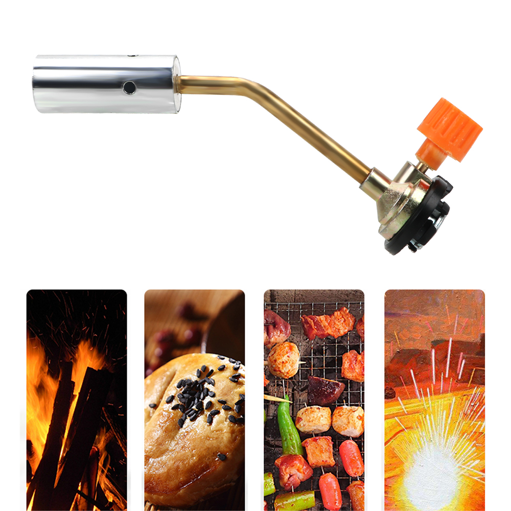 NICEYARD Camping BBQ Tool Portable Flame Gun Flamethrower Burner Hand Ignition Butane Gas Blow Torch Welding Torch Equipment