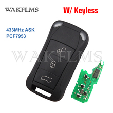 Keyless Full Smart Flip 리모컨 키 Fob 433MHz PCF7953A For Porsche For Cayenne 2005 2006 2007 2008 2009 2010 2011