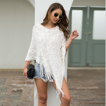 Women's sweater 2020 new spring and autumn fashion fringe shawl, nail, pearl, bright silk