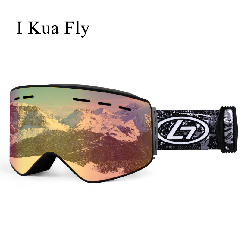 Hommes lunettes de Ski magnétique Double couche lentille polarisée Ski Anti-buée UV400 Snowboard lunettes femmes Ski lunettes étui à lunettes z4