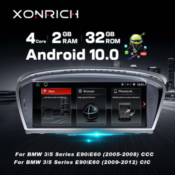 Android 10.0 car dvd player for BMW 5 series E60 E61 E62 E63 3 series E90 E91 CCC/CIC system autoradio gps navigation multimedia image