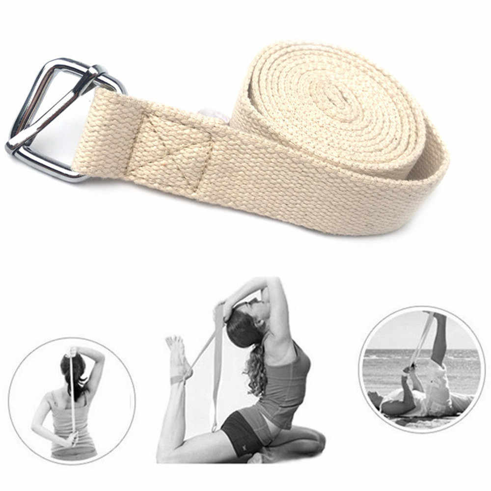 Yoga Stretch Strap D-Ring Belt Exercise Gym Rope Figure Waist Leg Resistance Fitness Band Leg Resistance Yoga Belt