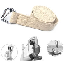 Yoga Stretch Strap D-Ring Belt Oefening Gym Touw Figuur Taille Been Weerstand Fitness Band Been Weerstand Yoga Riem(China)