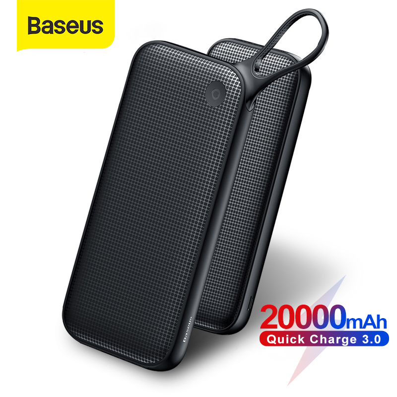 Baseus 20000mAh Power Bank Quick Charge 3.0 USB External Battery Powerbank 18W QC 3.0 PD Fast Chagring Poverbank For Phone|Power Bank|   - AliExpress