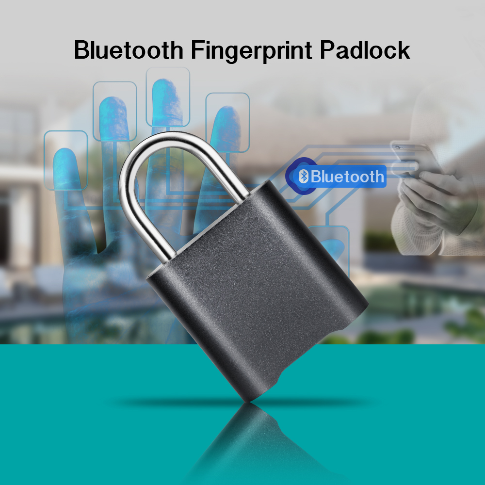 Mini Bluetooth Lock IP65 Waterproof Keyless Fingerprint Unlock Anti Theft USB Padlock Door Lock IOS Android Phone APP ControI