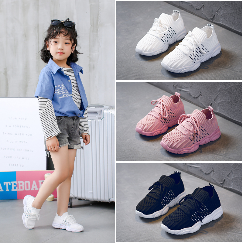 Girls Shoes Children Shoes 2020 Boys Sneakers Girls White Mesh Running Trainer Tennis Panda Shoe Sneake Kids Casual Shoe Student