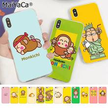 MaiYaCa Nette cartoon osaru keine Monkichi affe TPU Transparent Telefon Fall für Apple iphone 11 pro 8 7 66S Plus X XS MAX 5S SE XR(China)