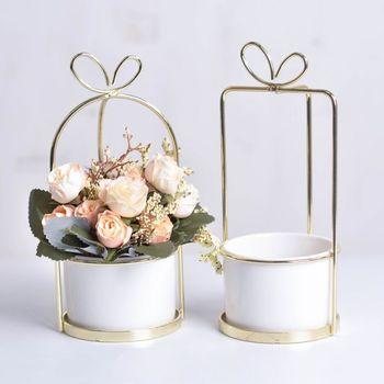 Nowy nowy doniczka na sukulenty ptak okrągła oprawka ceramiczna doniczka na kwiaty pulpitu doniczka dekoracyjna tanie i dobre opinie CN (pochodzenie)