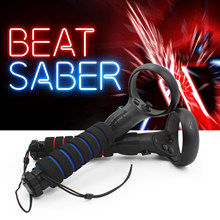 Dual Lightsaber Handles Extension Grips for Oculus Quest 2, Quest or Rift S Controllers Playing Beat Saber Games
