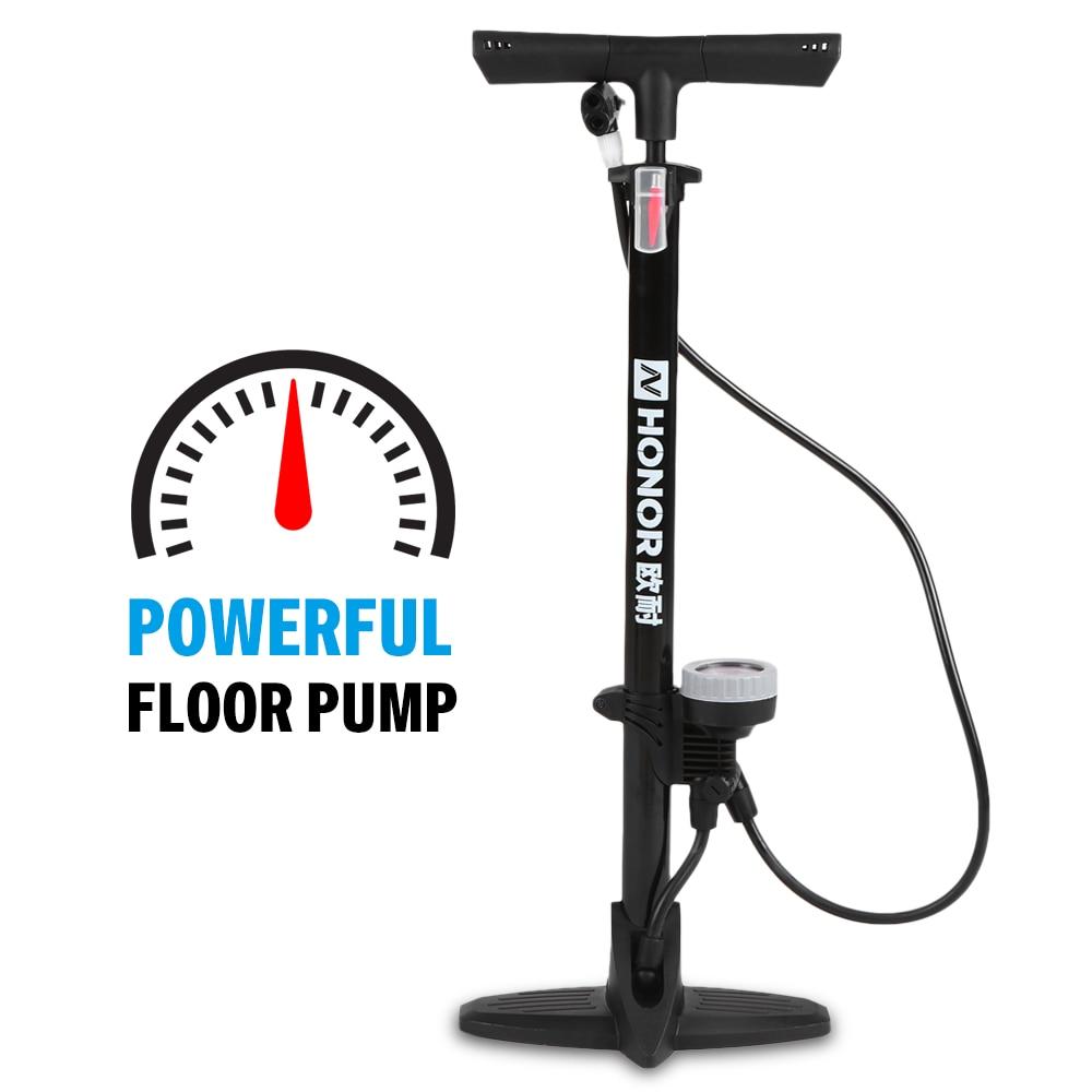 Pump Inflator Of Foot With Pedal Pressure Gauge Bike Tyre Balls Balsa Foot Pump