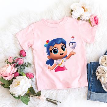 Dzieci dziewczyna T Shirt różowy dziecko tęczy królestwo wielkiej brytanii topy maluch koszulki ubrania dla dzieci odzież dla dzieci Cartoon T-shirt odzież na co dzień tanie i dobre opinie CZCCWD COTTON POLIESTER moda Drukuj REGULAR Z okrągłym kołnierzykiem SHORT Dobrze pasuje do rozmiaru wybierz swój normalny rozmiar