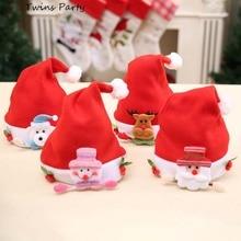 Twins Party Christmas Hats Santa Ornaments Decoration  Children Boys Girls Cap For