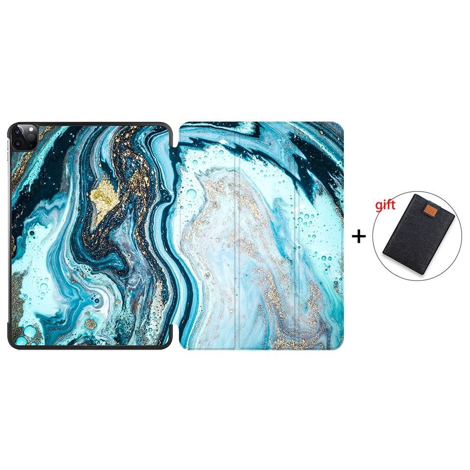 IP17 Khaki MTT 2020 Tablet Case For iPad Pro 11 2nd Generation PU Leather Flip Stand Smart funda