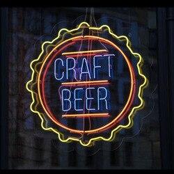 Letrero de neón para cerveza artesanal tubos de vidrio club bar lámpara neón ventanas luz publicidad marca personalizada LOGO hecho a mano dropship para la venta