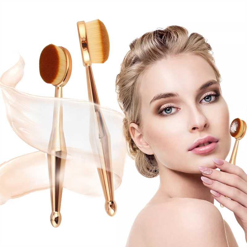 BearPaw 2019 Beauty Makeup Brush 1 PCS Toothbrush The New Mermaid Makeup Brush Foundation Oval Brushes Eyeshadow Brush Holder image