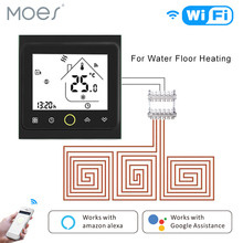 WiFi Thermostat Temperature Controller LCD Touch Screen Backlight for Water floor Heating Works with Alexa Google Home 16a touch screen lcd programmable thermostat temperature controller regulator room lcd floor heating thermostat with backlight