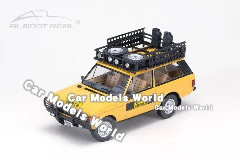 Dark Green +GIFT Diecast Car Model Almost Real Land Rover Range Rover 1970 1:43
