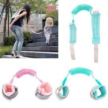 Coleira anti-perda para pulso, coleira de segurança anti-perda para criança, para caminhada ao ar livre pulseira luminosa