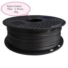 0.8 kg PA-CF fibra de carbono reforçado filamento fdm da impressora 3d de náilon material 1.75mm pa fibra de carbono