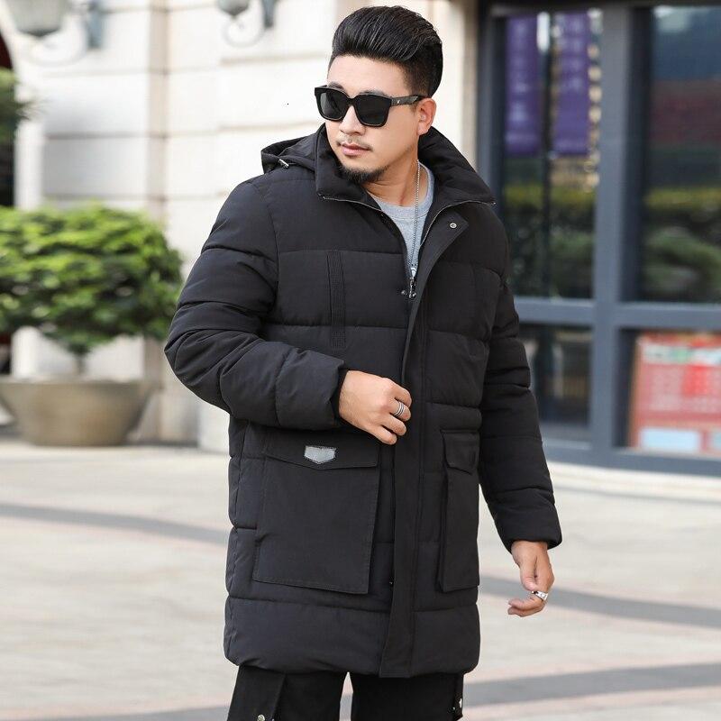 Плюс размер 10XL 9XL 8XL парка для мужчин новая зимняя куртка с капюшоном для мужчин длинная куртка однотонное пальто парки молодежная одежда - 6