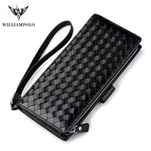 Large Capacity Genuine Leather Wallet Clutch Bag Wallet Card Holder Coin Purse Zipper Male Long Wallets Men Phone Pocket Wallets цена